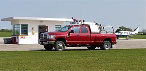 Dodge Fire Vehicle at the refueling point Sywell Airport Northants - Flickr - mick - Lumix.jpg