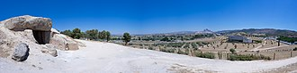 Antequera - Panorama of Dolmen of Menga site