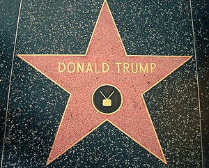 This photo depicts Donald Trump's star on the ...
