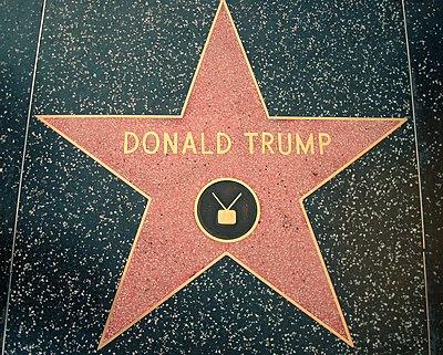Donald Trump star Hollywood Walk of Fame.JPG