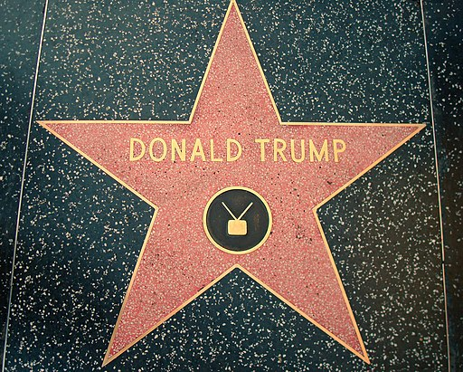 Donald Trump's star on the Hollywood Walk of Fame. Photo by Neelix. Public Domain.