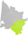 Donzac (Gironde) dans son Arrondissement.png