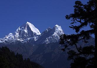 Dorje Lhakpa - Dorje Lhakpa from SW direction