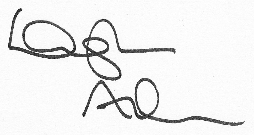 Douglas Adams Unterschrift (cropped)