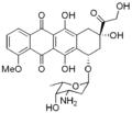 Niepodpisana grafika związku chemicznego; prawdopodobnie struktura chemiczna bądź trójwymiarowy model cząsteczki