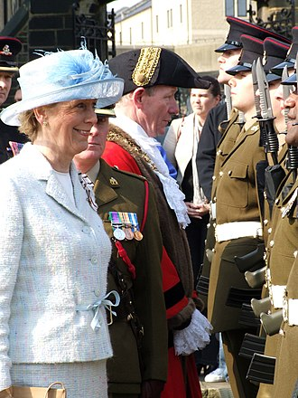 Ingrid Roscoe - Ingrid Roscoe, Inspecting the 3rd Battalion (Duke of Wellington's) of the Yorkshire Regiment (31 March 2007) in Halifax