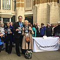 Dr Wrigley & Dr Davis supporting junior doctors outside Dept of Health, London.jpg