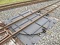 Drehscheibe der Feldbahn im Deutschen Dampflokomotiv-Museum in Neuenmarkt, Oberfranken (14127877510).jpg