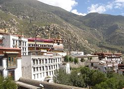Drepung Monastery was surrounded by Chinese troops after the Dalai Lama was awarded the Congressional Gold Medal. News agencies reported that monks were arrested for exhibiting their joy.Image: Philipp Roelli.