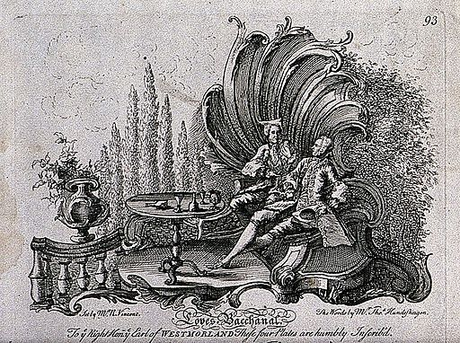 Drinking song set to music, drinking scene, 18th C, R Vincent Wellcome V0019454ETR