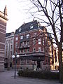 Drottninggatan 10 i Norrköping, uppfört efter Carl Bergstens ritningar 1906, den 4 april 2007, bild 1.JPG