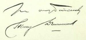Henry Drummond (evangelist) - Image: Drummond Henry signature