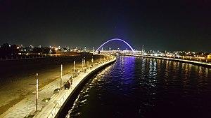 Dubai Water Canal - Dubai water canal night view