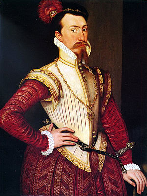 Jerkin (garment) - Robert Dudley in a slashed, probably leather, jerkin of the 1560s