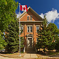 Dundas Central School Southern Exposure and Flag.jpg