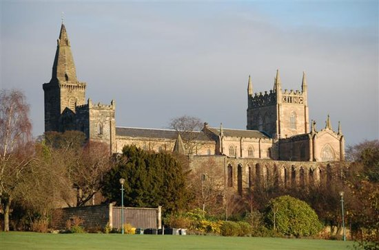 Dunfermline Abbey which received Coldingham Priory as daughter house from King Robert Dunfermline Abbey Geograph.jpg