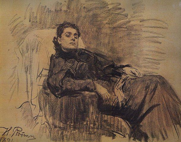 И.Е.Репин. «Портрет Элеоноры Дузе». 1891