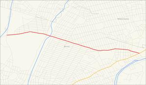 East 233rd Street (Bronx) - Image: E233rd St map