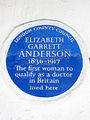 ELIZABETH GARRETT ANDERSON 1836-1917 The first woman to qualify as a Doctor in Britain lived here.jpg