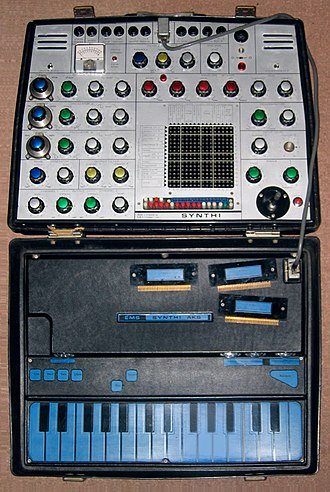 Electronic Music Studios - A later-model Synthi AKS equips built-in KS Sequencer with capacitive keyboard