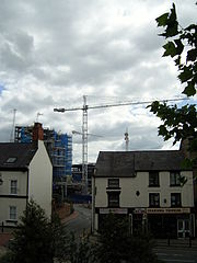 The Eagles Meadow Development taken from Temple Row