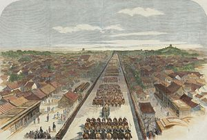 James Bruce, 8th Earl of Elgin - Lord Elgin's procession in Peking, accompanied by 100 cavalry and 400 infantry