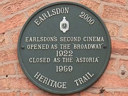 Photo of Broadway, Earlsdon green plaque