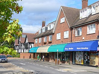 East Horsley - Facing this parade is another which is timber-framed creating diversity in the village's shops with homes above