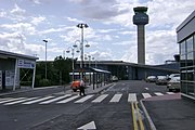 East Midlands Airport, drop-off bays, Departures and Control Tower - geograph.org.uk - 1409924