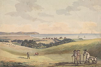 John Colley Nixon - Eastbourne from Lord G. Cavendish's Seat in the Park, landscape by John Nixon