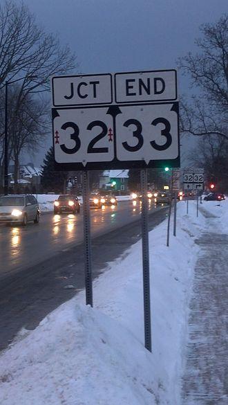 Wisconsin Highway 33 - Eastern end in Port Washington