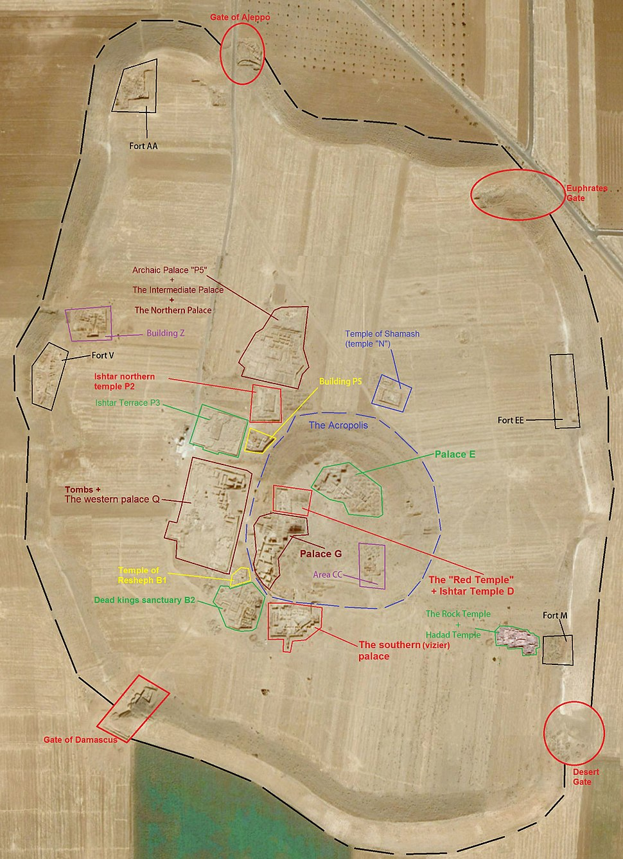 Ebla main sites