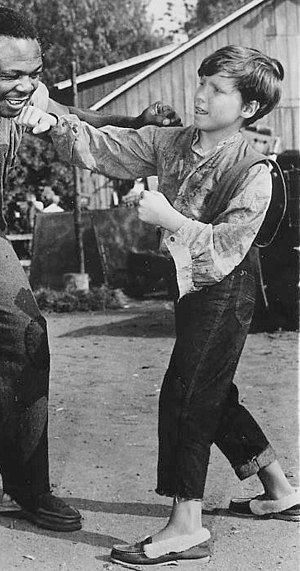 Eddie Hodges - Hodges on the set of ''The Adventures of Huckleberry Finn''