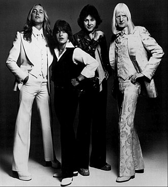 Edgar Winter - The Edgar Winter Group, Oct.1, 1975- L to R: Chuck Ruff, Rick Derringer, Dan Hartman, Edgar Winter.