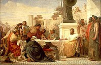 Julian the Apostate presiding at a conference of sectarians, by Edward Armitage, 1875