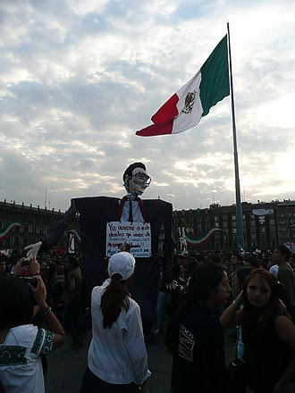 Gustavo Díaz Ordaz - Effigy of Díaz Ordaz at an anti-government protest in 2009.