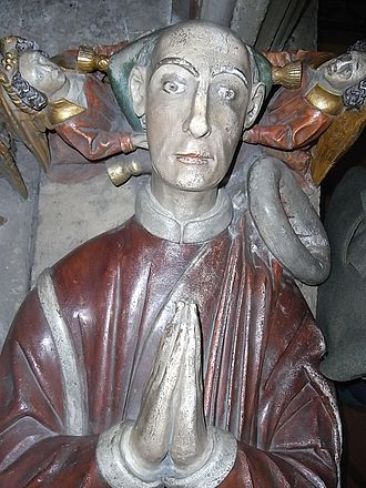 William II Canynges - Image: Effigy of William II Canynges in mayoral robes from his tomb, St Mary Redcliffe, Bristol, UK 20101015