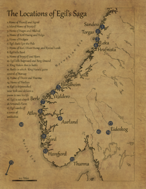 Egil's Saga - A reference map of Egil's Saga (Norway)