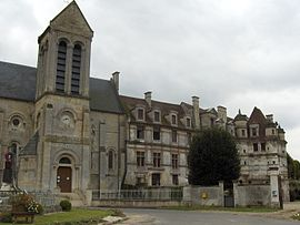 The château and the church