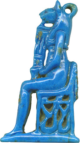Egyptian - Seated Bastet - Walters 481553 - Left