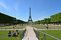 Eiffel Tower as seen from the Champ de Mars, Paris May 2014.jpg