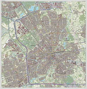 Eindhoven - Dutch Topographic map of Eindhoven (city), Sept. 2014