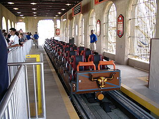 Train (roller coaster) vehicle made up of two or more roller coaster cars