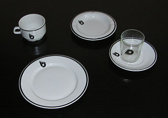 Żarnowiec Nuclear Power Plant - Tableware with the power plant's logo