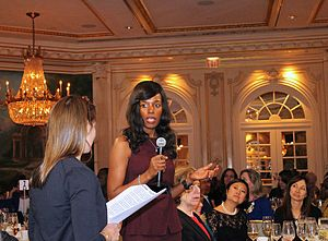 Elizabeth Nyamayaro - Elizabeth Nyamayaro accepting an award