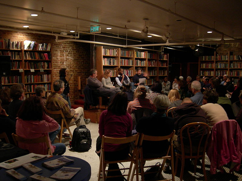 File:Elliott Bay Books - author reading 01.jpg