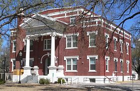Ellis County, Oklahoma courthouse from SW 1.JPG