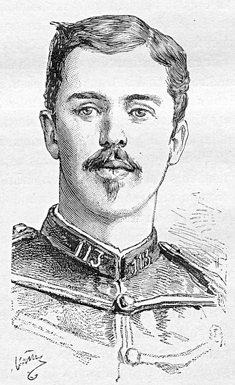 Battle of Đồng Đăng (1885) - 2nd Lieutenant Émile Portier, mortally wounded at Đồng Đăng, 23 February 1885