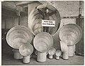 Employee with ship ventilators at Puget Sound Sheet Metal Works, Seattle, circa 1918 (MOHAI 8924).jpg