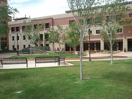 UTEP's College of Engineering building Engineering building area.jpg